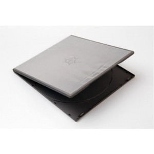 Huismerk pocket-sized DVD videobox, voor 1 DVD, 7 mm rug (slimline), zwart, 50 stuks