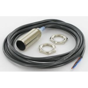 Omron Benaderschakelaar inductief - E2AM18KS08WPB1 | Algemene machinebouw | 12…24V DC V | Afgeschermd | 8 mm Sn | 500 Hz | PNP PNP/NPN | No M/V | Kabel Kabel / Connector | 200 mA | 2 m