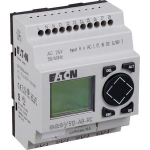 Eaton Stuurrelais easy, 8I,4RO - EASY512ABRC | 24V AC | Relais Relais/Transistor | 8 A A/per stuk | 132 x 64px.