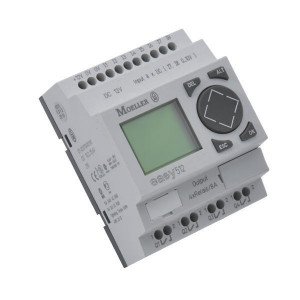 Eaton Stuurrelais easy, 8I,4RO - EASY512ACRC | 100...240V AC | Relais Relais/Transistor | 8 A A/per stuk | 30x24mm