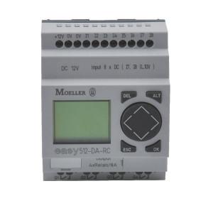 Eaton Stuurrelais easy, 8I,4RO - EASY512DCR | 24V DC | Relais Relais/Transistor | 8 A A/per stuk | 132 x 64px.