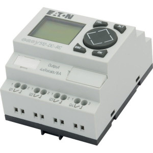 Eaton Stuurrelais easy, 8I,4RO - EASY512DCRC | 24V DC | Relais Relais/Transistor | 8 A A/per stuk | 132 x 64px.