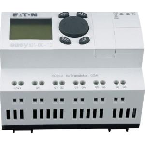 Eaton Stuurrel.,12DI,8TO,24VDC,disp - EASY821DCTC | Transistor Relais/Transistor | 0,5 A A/per stuk | 2 A A/totaal | 132 x 64px