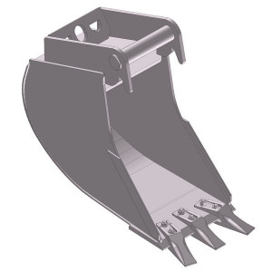 Dieplepelbak 500mm met tanden - EBDTLH01B500KR | Lange Levensduur | Levering met tanden | 35 kg | SW01 Lehnhoff-Aufnahme | 1,2 2,0 ton | 110 x 16 | 27 l | 500 mm