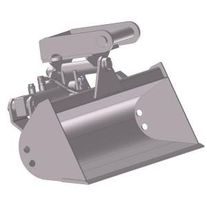 Slotenbak hydraulisch 850mm - EBRTLH01A850KR | Lange levensduur | SW01 Lehnhoff-Aufnahme | 0,8 1,2 ton | 110 x 12 | 38 l | 850 mm