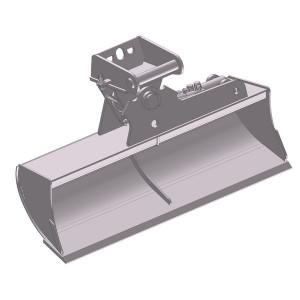 Slotenbak hydraulisch 1200mm - EBRTLH01C1200KR | Lange levensduur | 121 kg | SW01 Lehnhoff-Aufnahme | 1,5 2,6 ton | 150 x 16 | 93 l | 1.200 mm