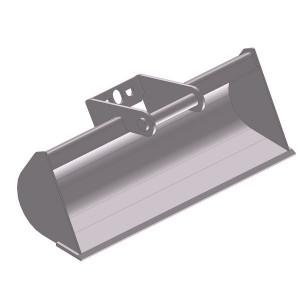 Slotenbak 850mm LH01 - EBSTLH01A850KR | Lange levensduur | Levering zonder tanden | SW01 Lehnhoff-Aufnahme | 0,8 1,2 ton | 110 x 12 | 38 l | 850 mm