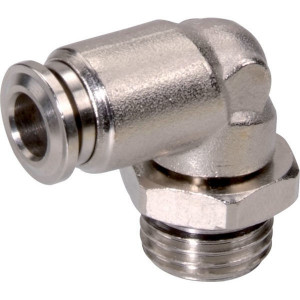 L-insteekkoppeling 6xM12x1 - ECSS6M121B | Messing vernikkeld | NBR 70 | 6 mm | M 12 x 1 | 12,3 mm | 7,3 mm
