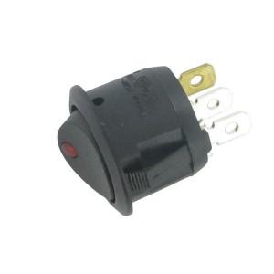 LED-tuimelschakelaar rood - EL192182 | Inbouwmaat 20 mm | aan/ uit | 4,3 mm