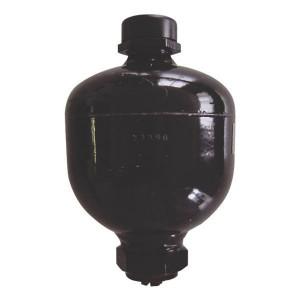 "Parker Accumulator 0,75 l - ELM07521000AF | Gelaste accumulator | Compacte constructie | Huis staal; Membraan NBR | -10 tot 80 C | 166 mm | 122 mm | 750 cc | 210 bar | G 1/2"" Inch | 30 bar | 130 bar | 2,6 kg"