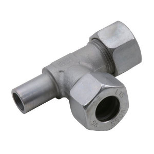 Voss L-koppeling instelbaar 12S - ELV12S | 2S snijring | DIN 2353 | Zink / Nikkel | 12 mm | 21,5 mm | 630 bar