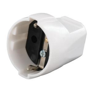 Contrastekker wit m/randaarde - EM4515501