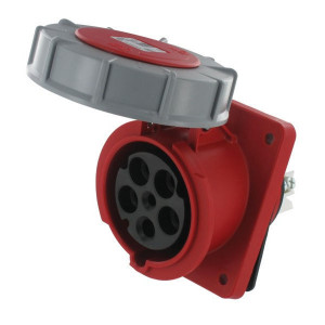 Inbouwstekkerdoos CEE 5-P 63A - EM634356 | Anti-knik | Langere levensduur | 380 415 V | 44 IP | 100x112 mm