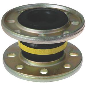ELAFLEX Buisverbinding, gele ring - ERVG080 | Eenvoudige toepassing | 200 mm | 16 bar | 130 mm | 8 x 18 mm | 160 mm | 85 cm² | 100 160 mm | ± 30 mm | ± 25 ° ° | 80 Nm