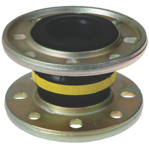 ELAFLEX Buisverbinding, gele ring - ERVG100 | Eenvoudige toepassing | 220 mm | 16 bar | 100 mm | 130 mm | 8 x 18 mm | 180 mm | 125 cm² | 100 160 mm | ± 30 mm | ± 20 ° ° | 100 Nm