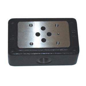 Eurofluid Voetplaat ES-3-D-3/8-L zijaansl. A+T+B+P - ES3D38L1 | Max. 35 l/min | 35 l/min | 110 mm | 3/8 BSP | Side port