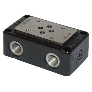 Eurofluid Voetplaat 3/8 ONDER-ZIJ NG06 - ES3D38PL | Max. 35 l/min | 35 l/min | 3/8 BSP | Bottom / side port