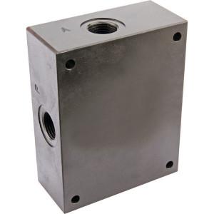 Eurofluid Bodemplaat 1/2 zijd. - ES5A12L | Max. 60 l/min | 60 l/min | 125 mm | 105 mm | 52,5 mm | 62,5 mm | 9,5 mm | 15.5 Inch BSP | 1/2 BSP | Side ports