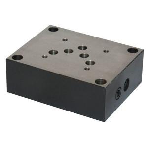 Eurofluid Voetplaat 1/2 ONDERAANSL. NG10 - ES5A12P | Max. 60 l/min | 60 l/min | 1/2 BSP | Bottom ports