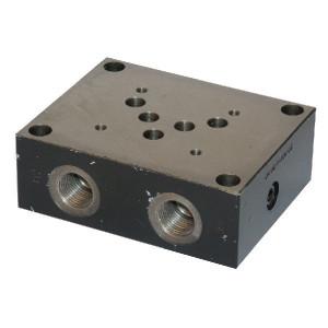 Eurofluid Voetplaat 1/2 zijaansluiting - ES5A12PL | Max. 60 l/min | 60 l/min | 125 mm | 105 mm | 52,5 mm | 62,5 mm | 9,5 mm | 15.5 Inch BSP | 1/2 BSP | Side / bottom ports