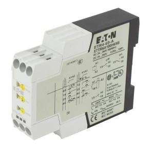 Eaton Tijdrelais, 24-240V-AC/DC - ETR469A | 6 A | 440 V | 24...240V AC/DC V | 2.500 VA | 1.250 VA | 0,55 kW | 4 ms | 70 ms