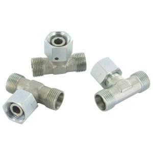 Gopart Instelbare T-koppeling 50 St - ETSD12LP050GP   Minder kans op lekkage   CR6-vrij verzinkt   12 mm   M18x1,5 metrisch   400 bar