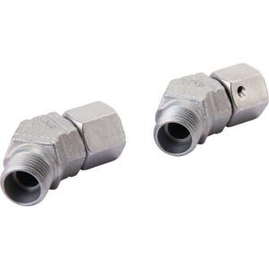 Voss 45° snijringverbinding 12L - EVSD12L | Minder kans op lekkage | DIN 2353 | Zink / Nikkel | 12 mm | 400 bar | M18x1,5 metrisch