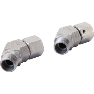 Voss 45° snijringverbinding 8S - EVSD8S | Minder kans op lekkage | DIN 2353 | Zink / Nikkel | 8 mm | 800 bar | M16x1,5 metrisch