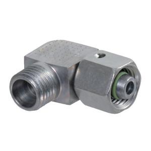 Voss Instelbare haakse koppeling 15L - EWS15LSV | Minder kans op lekkage | DIN 2353 | Zink / Nikkel | 400 bar | 15 mm