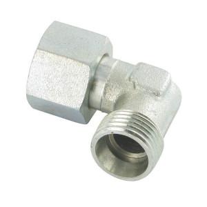 Gopart Instelb. haakse koppeling 50St - EWSD15LP050GP | Voorgemonteerd met O-ring | Minder kans op lekkage | CR6-vrij verzinkt | 15 mm | 400 bar | M22x1,5 metrisch