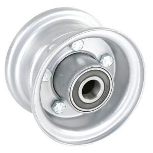 "Velg met lager - F121042075 | 2.10 x 4"" | 124 mm | 75 mm | 62042RS | Alu Ral 9006"