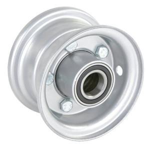 "Velg met lager - F121042575 | 2.10 x 4"" | 124 mm | 75 mm | 60052RS | Alu Ral 9006"