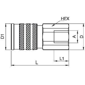 "Parker 3/4 mof Tema FF ISO 16028 - FEM50112FB   250 bar   1/2"" Inch"