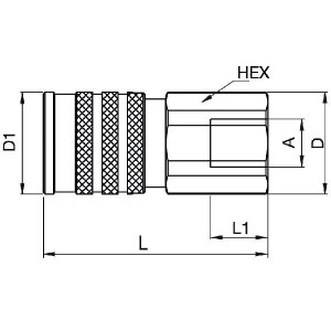 "Parker 3/4 mof Tema FF ISO 16028 - FEM75112FB   250 bar   3/4"" Inch"