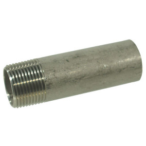 "Lasnippel RVS 3/8""x100mm - FG1538100RVS | 316 SAE | 3/8 Inch | 100 mm | 17,3 mm | 16 bar"