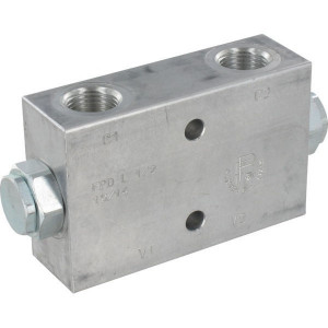 "FluidPress Inline Gest terugslklep 1/4 B - FPD03DF | Veerbelaste klep | 126 mm | 25,5 mm | 12,5 mm | 8,5 mm | 20 l/min | 1/4"" BSP | 20 l/min | 250 bar"