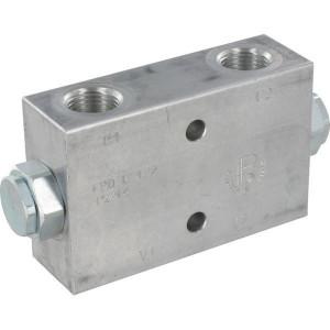"FluidPress Inline Gest terugslklep 3/8 B - FPD05DF | Veerbelaste klep | 127 mm | 6,5 mm | 25 l/min | 3/8"" BSP | 25 l/min | 250 bar"