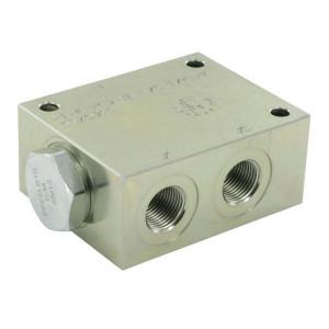 FluidPress Stroomverdeler 20-40 L 3/8 ST - FPFDS10CB12M38ST | 40 l/min | 50 mm | 8 mm | 20-40 l/min | 1/2 BSP | 3/8 BSP | 64 mm | 47 mm | 8 mm | 350 bar