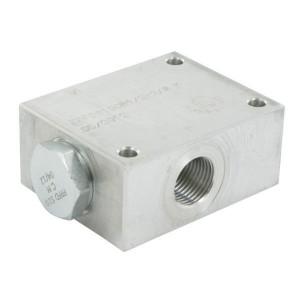 FluidPress Stroomverdeler 1/2-3/8 40-50 liter - FPFDS10CB12Q38 | Max. druk 250 Bar | 115 mm | 50 l/min | 53,3 mm | 78.3 mm | 8 mm | 40-50 l/min | 1/2 BSP | 3/8 BSP | 64 mm | 47 mm | 8 mm