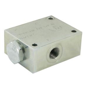 FluidPress Stroomverdeler 5-10 L 3/8 ST - FPFDS10CB38E38ST | 10 l/min | 50 mm | 8 mm | 5-10 l/min | 3/8 BSP | 3/8 BSP | 64 mm | 47 mm | 8 mm | 350 bar