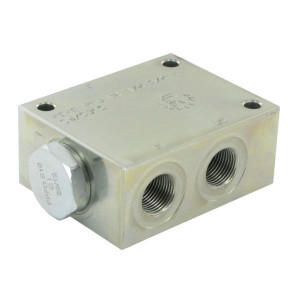 FluidPress Stroomverdeler 10-20 Liter 3/8 - FPFDS10CB38I38ST | 20 l/min | 50 mm | 8 mm | 10-20 l/min | 3/8 BSP | 3/8 BSP | 64 mm | 47 mm | 8 mm | 350 bar