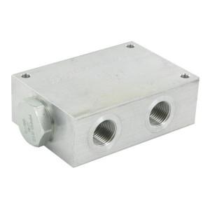 FluidPress Stroomverdeler 3/4-1/2 75-100 lite - FPFDS12CB34E12 | Max. druk 250 Bar | 125 mm | 100 l/min | 100 mm | 54,3 mm | 82.8 mm | 10 mm | 75-100 l/min | 3/4 BSP | 1/2 BSP | 99 mm | 64 mm | 10.7 mm