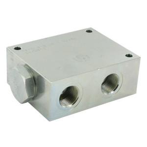 FluidPress Stroomverdeler 1-3/4 115-150 liter - FPFDS16CB1E34 | Max. druk 250 Bar | 125 mm | 250 bar | 150 l/min | 100 mm | 54,3 mm | 82.8 mm | 10 mm | 115-150 l/min | 1 BSP | 3/4 BSP | 105 mm | 80 mm | 12.7 mm