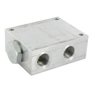 FluidPress Stroomverdeler 3/4-3/4 80-115liter - FPFDS16CB34A34 | Max. druk 250 Bar | 125 mm | 115 l/min | 100 mm | 54,3 mm | 82.8 mm | 10 mm | 80-115 l/min | 3/4 BSP | 3/4 BSP | 105 mm | 80 mm | 12.7 mm