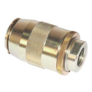 "FluidPress Smoorterugslagventiel 1/2 BSP - FPMU10001   Grofafstelling   0,5 bar   1/4"" 1"" BSP   350 bar   45 l/min   1/2 BSP   310 bar"
