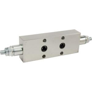 "FluidPress Balventiel dubbel 3/8"" flens - FPO50D382F35 | 6-kantig"