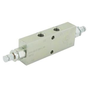 "FluidPress Balanceerventiel dubbel 3/8"" - FPO50D38L35 | 6-kantig | 150 mm | 55 mm | 112 mm | 50 l/min | 1:4,25 | 350 bar | 80-350 bar | 3/8"" BSP"