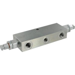 "FluidPress Balanceerventiel dubbel 3/8"" - FPO50D38LU20 | 6-kantig | 150 mm | 55 mm | 112 mm | 50 l/min | 1:4,25 | 350 bar | 60-210 bar | 3/8"" BSP | With Check valve"