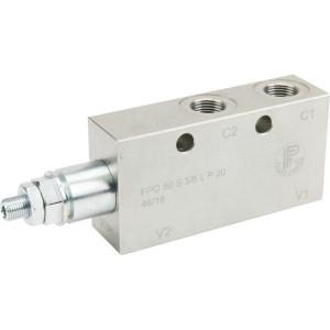 FluidPress Lasthoudventiel - FPO50S38LP20 | 6-kantig