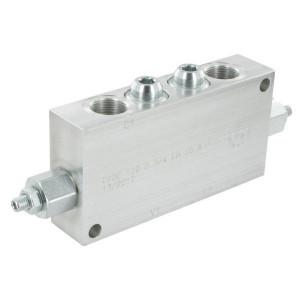 "FluidPress Balanceerventiel dubbel 3/4"" - FPOE120D34LA20B | 6-kantig | 175 mm | 90 mm | Aluminium | 120 l/min | 350 bar | 60-210 bar | 3/4"" BSP"